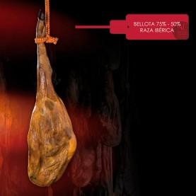 Jamón de bellota ibérico 75% - 50% (Pieza)